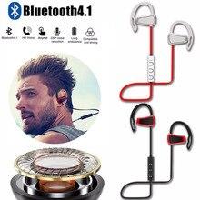 Portable Wireless Bluetooth Earphones Ear Hook Hands-free Earbud Running Sport Headset Super Bass With MIC