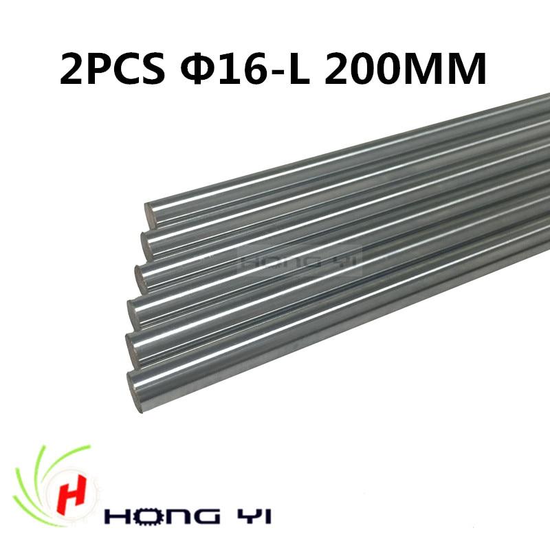 2pcs 3D Printer Rod Shaft 16mm-L200mm Chrome Plated Cylinder Linear Rail Round Rod Shaft Linear Motion Shaft for 3D chrome plated wired control plate for jazz basstotal approx 152 54 mm l