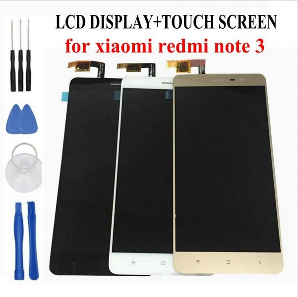 100% Original LCD Display+Digitizer Touch Screen Assembly For Xiaomi Redmi note 3 pro prime Cellphone 5.5 inch tools as gift