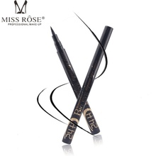 New Arrival Hot Sale Black Make Up Waterproof Woman Eyeliner Liquid Black Eye Liner Pen D1