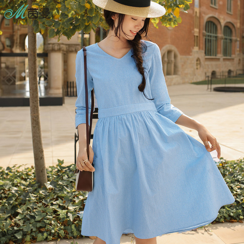 INMAN 2018 New Products Women Spring Clothes Little Dress Midiskirt