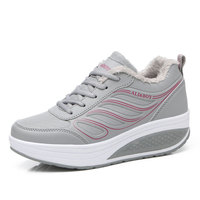 high quality Autumn Winter women sneakers sports shoes girls running shoes Platform sneakers boots Warm swing shoes women35-40