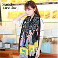 2016 Winter Tassel Scarf Women Cyan Black Bohemia Bandana Soft Foulard Bufanda Echarpe Women Scaves and Shawls Cheap Sale 025