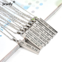 BTS Colar KPOP Chocker choker necklaces for women Collar Girl Fashion Jewelry Fans jewellery Stainless Steel Pendant 90S