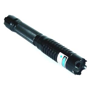 Image 5 - Pointeur Laser bleu brûlant lampe de poche vue torche 445nm 10000 m Laser focalisable brûler allumette bougie allumé pétard