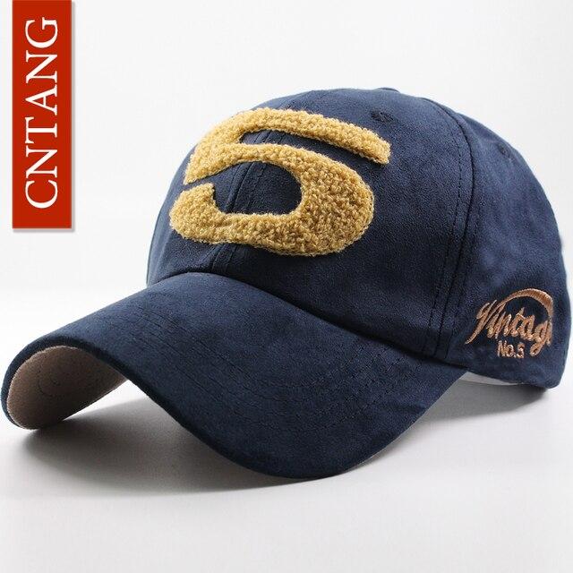 4a852741d046c CNTANG Men Women Suede Baseball Cap Snapback Street Hip Hop Hat Winter  Autumn Fashion Vintage Caps