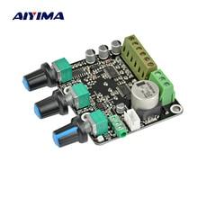 AIYIMA 2,1 CH TPA3110D2 сабвуфер усилитель доска 15*2+ 30 Вт Sub аудио стерео NE5532 усилитель для высококлассного компьютера динамик DC 12 В 24 В