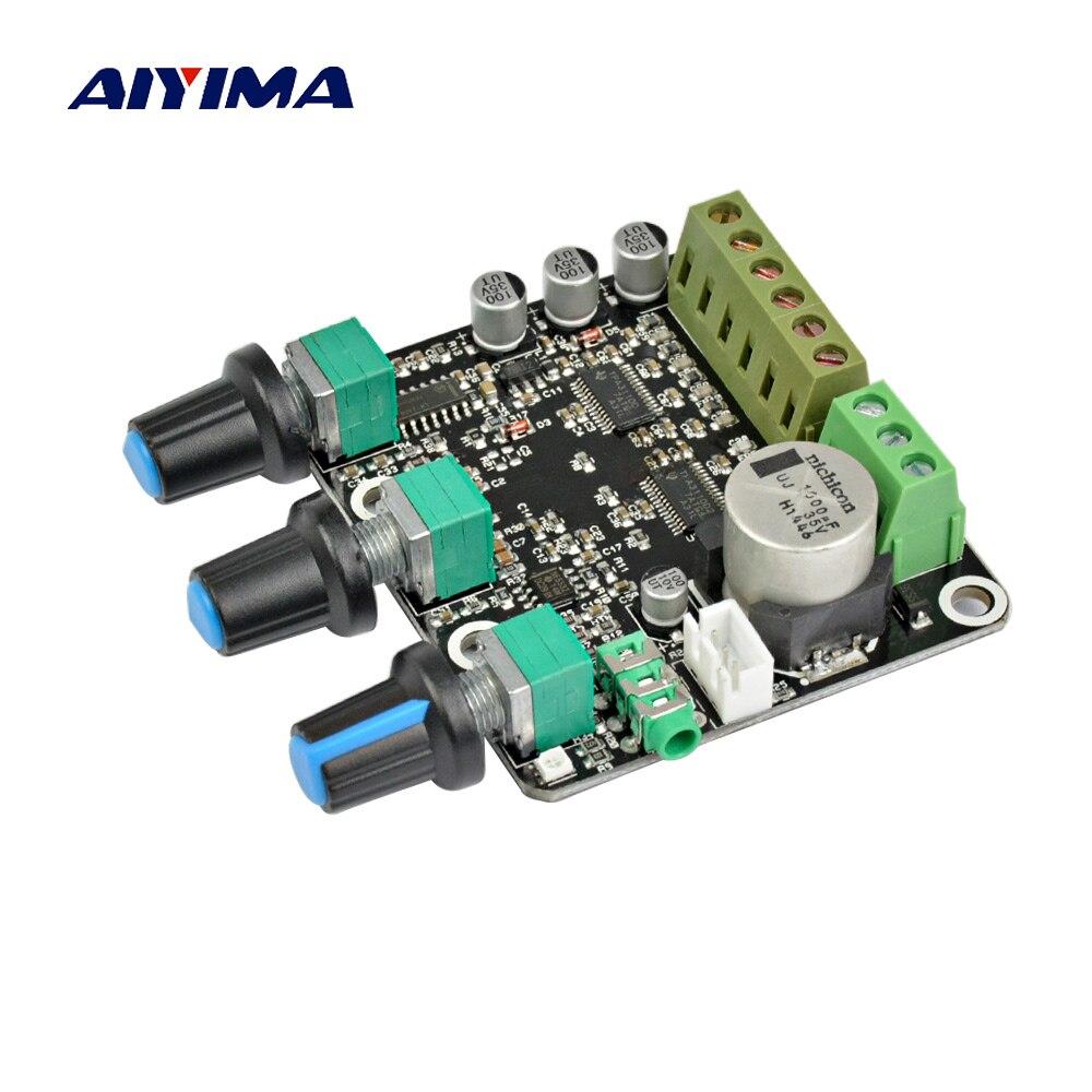 Aiyima 2.1 ch tpa3110d2 subwoofer amplificador placa 15*2 + 30 w sub áudio estéreo ne5532 amp para alto-falante de computador de ponta dc 12 v 24 v