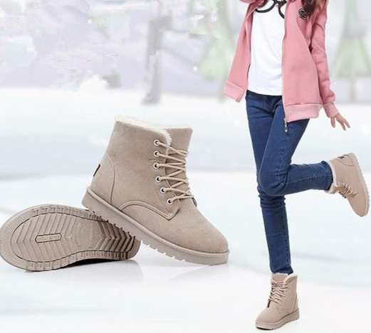 2015 Flat heel women winter shoes the new four -color fashion casual cute  Korean fashion warm woman snow boots women s boots 496bec0306cd