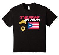 2017 New 100 Cotton T Shirts Puerto Rico Team Rubio Baseball Flag T Shirt Short Sleeve