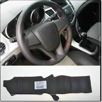 sedan hatchback sew on genuine leather car steering wheel cover For Chevrolet Cruze accessories