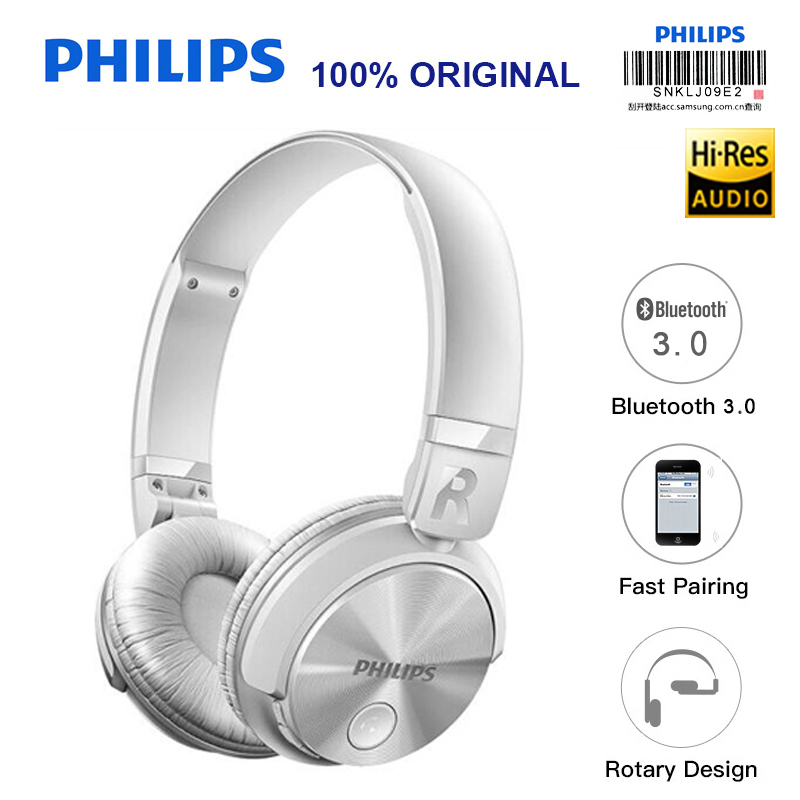 Philips SHB3060 Headband Bluetooth Headset/Wireless Earphone Lithium Battery Micro USB for IPhone MP3 Game Computer 3 7v lithium polymer battery 051 230 501 230 iron general remote control bluetooth headset wireless mouse