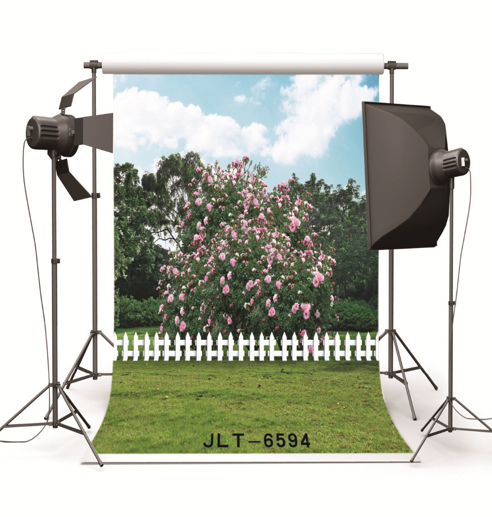 Spring Flowers Tree Vinyl Backgrounds for Photography Computer Printed Photo Backdrops Photocall for Weddings Children