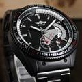 2017 Ganador Del Reloj de Los Hombres de Lujo Marca de Relojes Hombres Deportes Militar Reloj de Pulsera Mecánico Automático Esquelético Auto Fecha caja de regalo