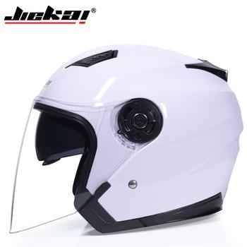 JIEKAI Motorcycle Helmets Electric Bicycle Helmet Open Face Dual Lens Visors Men Women Summer Scooter Motorbike Moto Bike Helmet 11