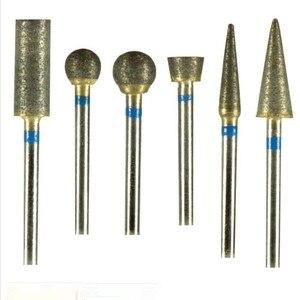 Image 3 - Dental Sintered Diamond Bur Polisher 2.35 mm 30 Pieces/Lot Dental Lab Tool Trimming Drill For Metal Ceramics Jewellery