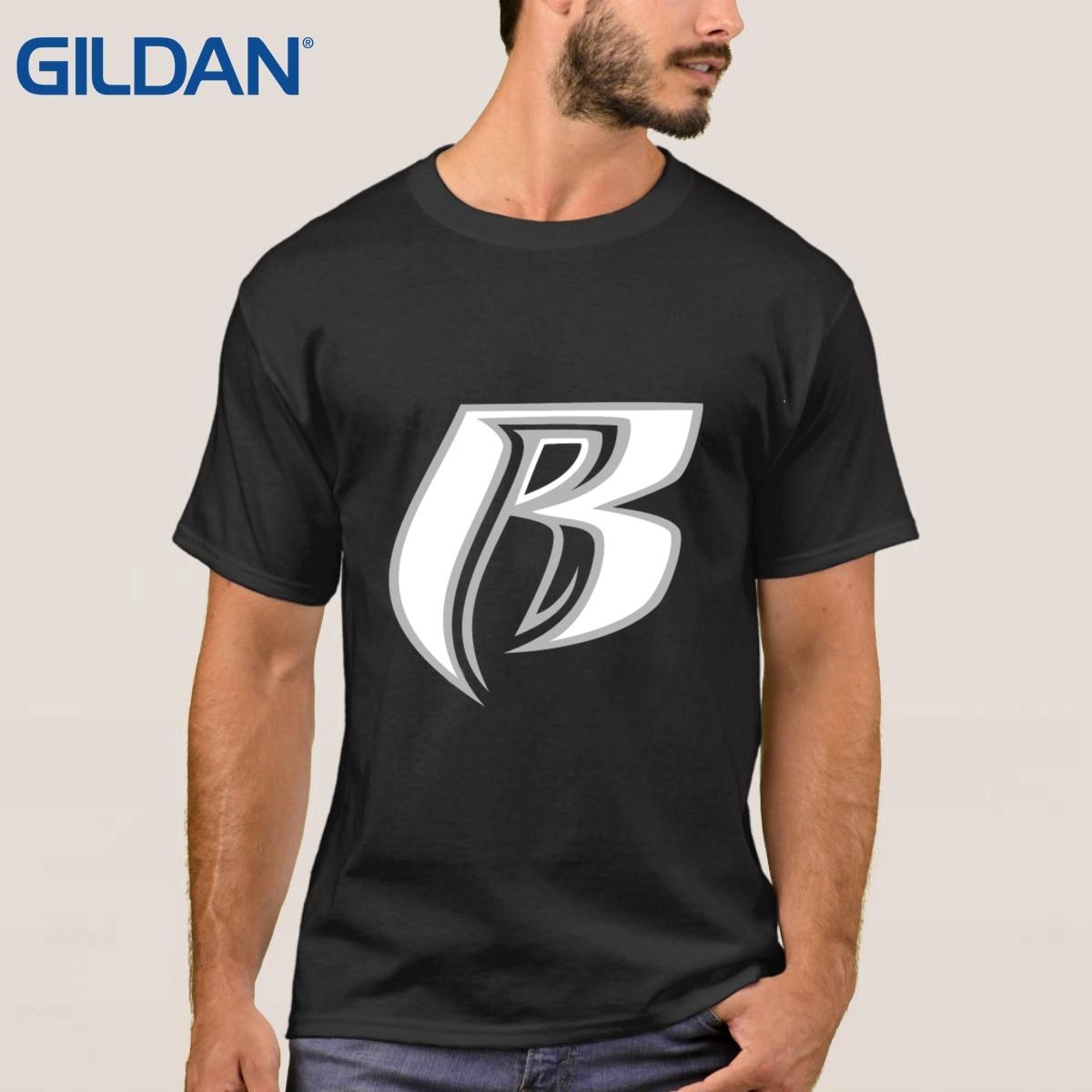 T Shirt Black Men Ruff Ryders Rao Label High Hop Short Sleeved On Sale Clothes S