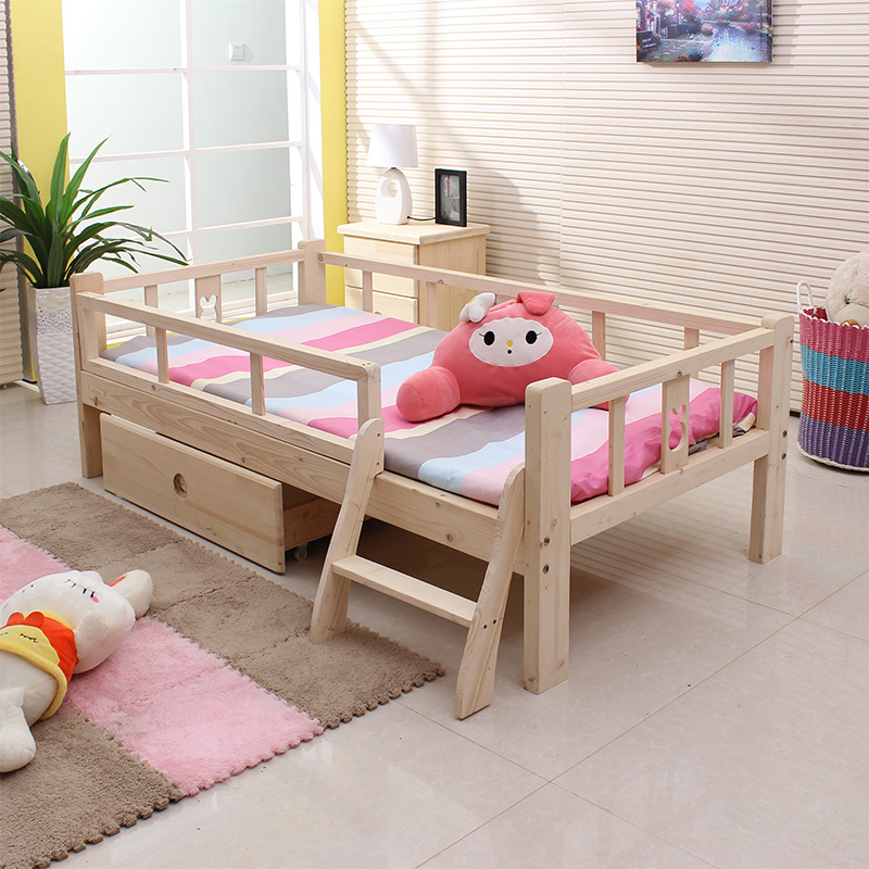 Children Wood Bed Color Twin Boy And Girl Childrens Beds Single With Guardrail Furniture In Sets From On