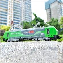 1:32 Сплав односекционная модель трамвая, Тяговая модель поезда, моделирование красочных огней, может открыть детские игрушки