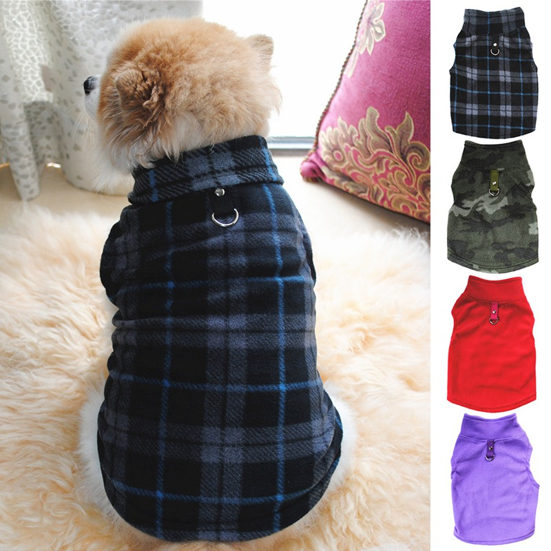 Winter Fleece Pet Clothes for Dogs Puppy Clothing French Bulldog Coat Pug Costumes Jacket For Small Dogs Chihuahua Coats costume