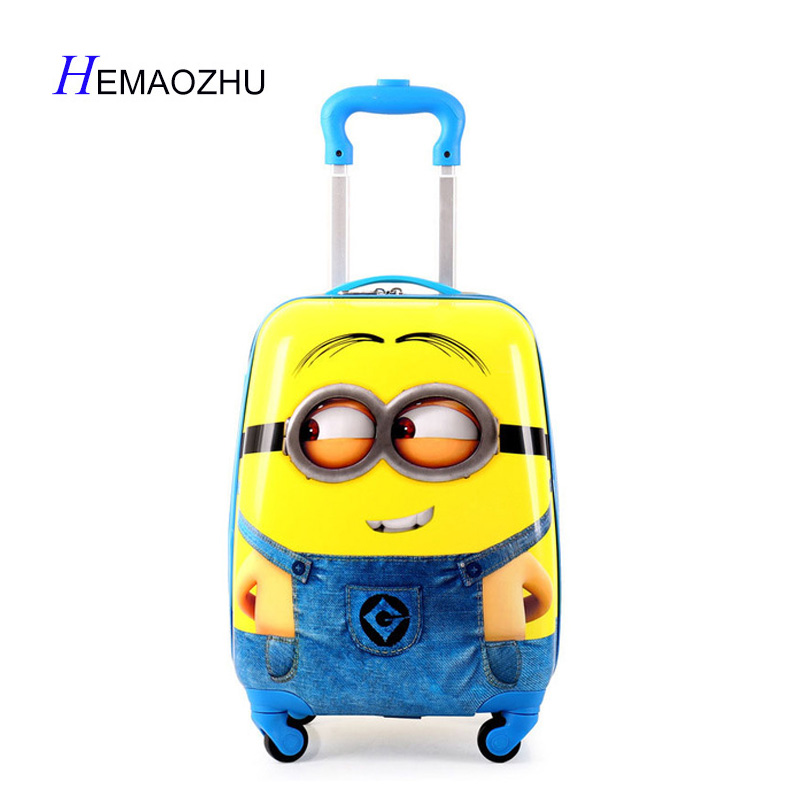 HEMAOZHU  2018 Cartoon Kids Travel Trolley Bags Suitcase For Kids Children Luggage Suitcase Rolling Case Travel Bag On WheelsHEMAOZHU  2018 Cartoon Kids Travel Trolley Bags Suitcase For Kids Children Luggage Suitcase Rolling Case Travel Bag On Wheels