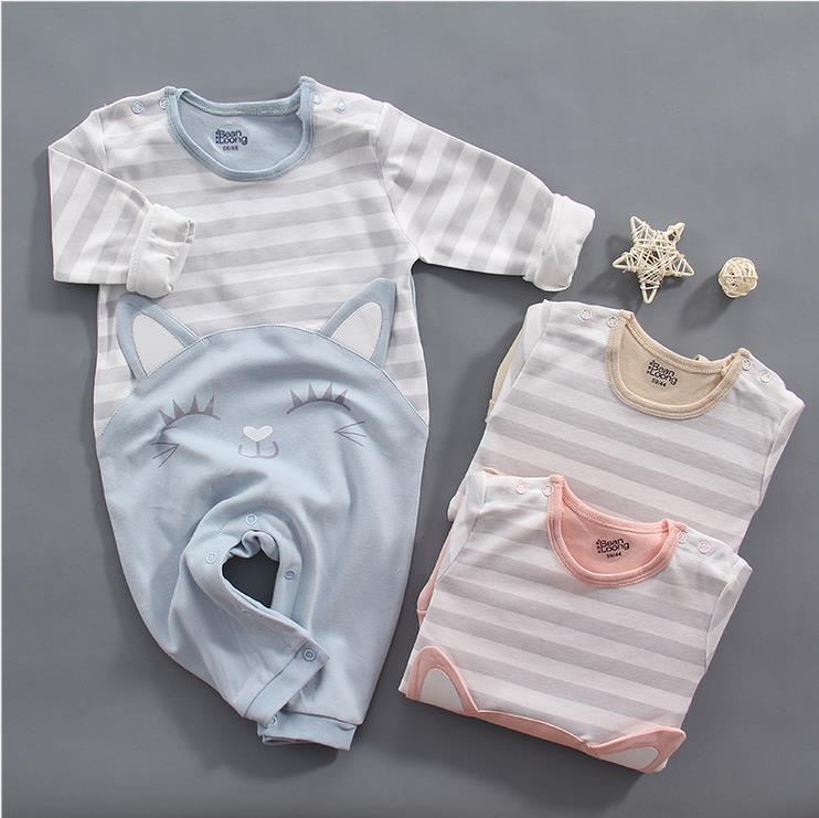 New Baby autumn Rompers Cotton long sleeve clothing Newborn boys Girls Jumpsuit spring Fashion baby's wear bebe Climb Clothes new 2017 brand quality 100% cotton newborn baby boys clothing ropa bebe creepers jumpsuit short sleeve rompers baby boys clothes