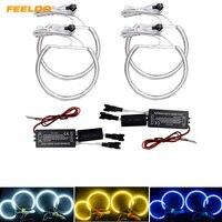 FEELDO 1 Set (4X131 MM) auto CCFL Angel Eyes Licht Halo Ringe Kits Für BMW E46 E36 E38 E39 Scheinwerfer # AM4170