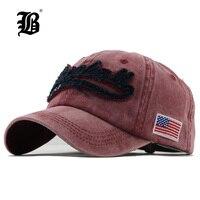 FLB Washed Denim Spring Cotton Cap Baseball Cap Snapback Hat Summer Cap Hip Hop Fitted