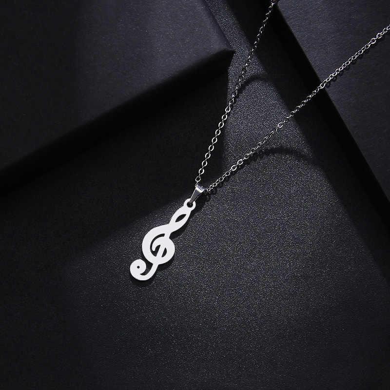 DOTIFI naszyjnik ze stali nierdzewnej dla kobiet Man Lover's Music złoty i srebrny kolorowy wisiorek naszyjnik biżuteria zaręczynowa