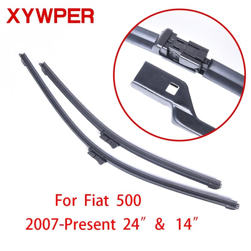XYWPER Wiper Blades for Fiat 500 2007 2008 2009 2010 2011 2012-2017 24&14 Car Accessories Soft Rubber car windscreen wipers