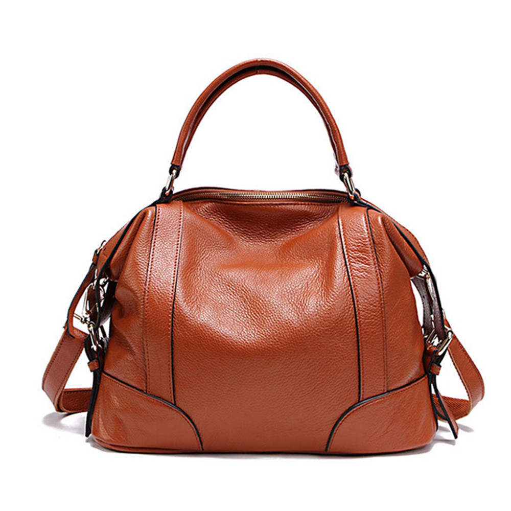 Fashion Women Genuine Leather Handbag First Layer Cowhide ladies handbags messenger bag Female Messenger Bags 2 Sizes women genuine leather handbags ladies personality new head layer cowhide shoulder messenger bags hand rub color female handbags