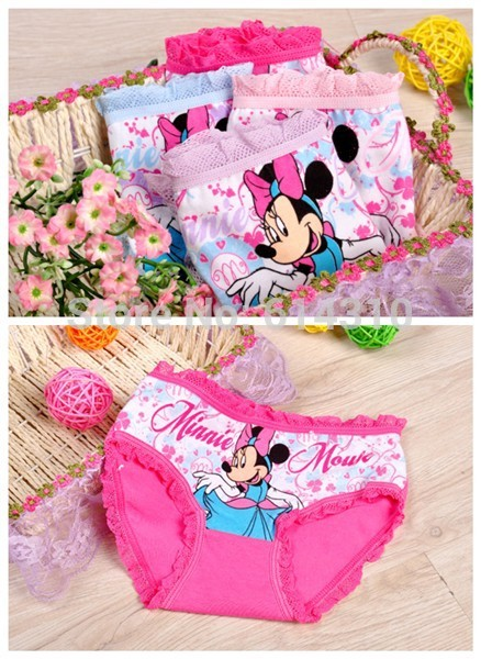 2pcs/lot Fashion Kids Panties Girls' Briefs Female Child Underwear Lovely Cartoon Panties Children Clothing Suit 2-10 Years