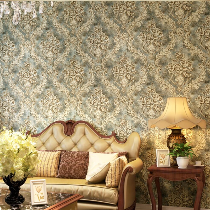beibehang American Village Retro Damascus Paper Wallpapers Bedroom Living Room TV Sofa Background Wallpaper meredith clausen pietro belluschi – modern american architect paper