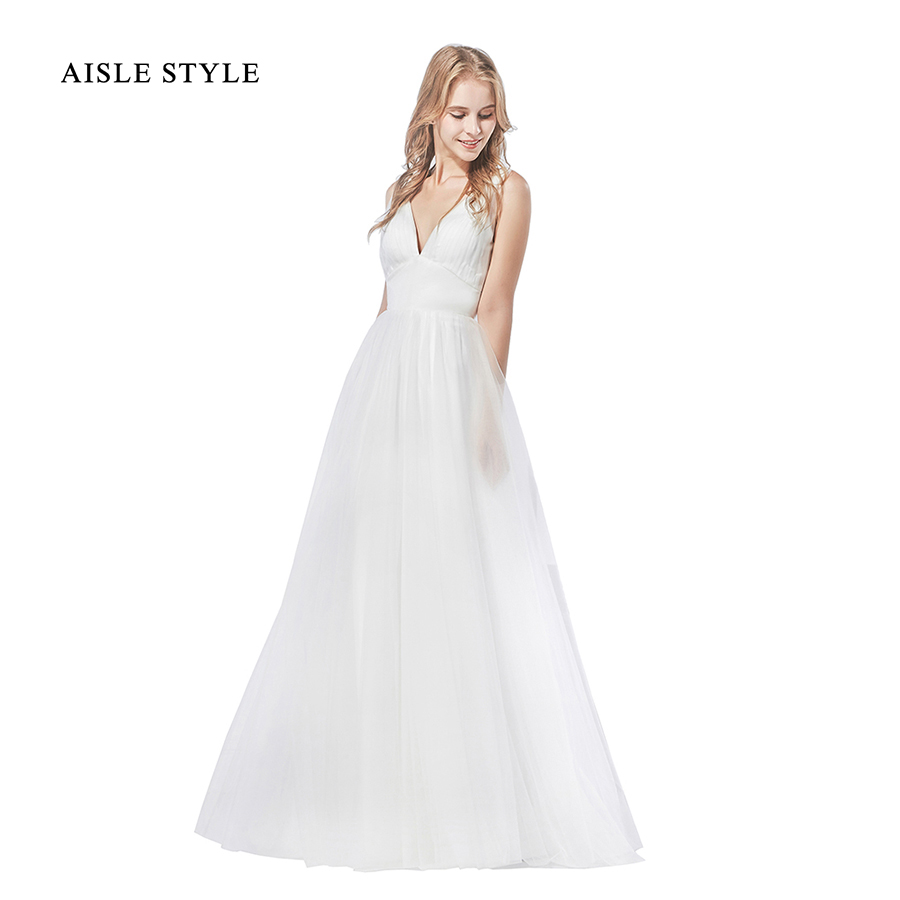 Real Photo 2017 Simple Wedding Dresses Casual A Line Beach