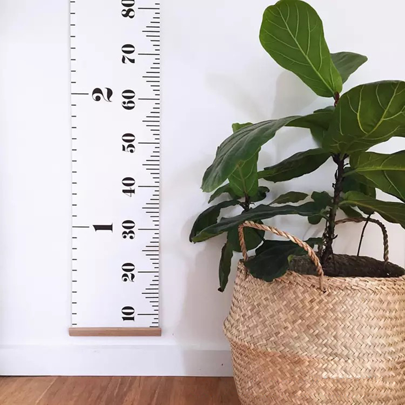 Wall Hanging Height Chart Wood Frame Height Measurement Rulers for Kids ...