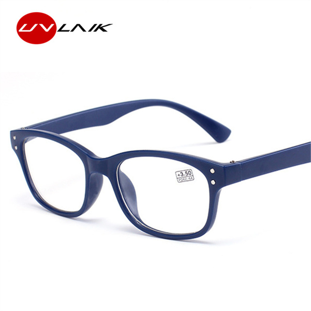 UVLAIK Unisex Reading Glasses Women Men Ultralight Resin Lens Presbyopic Reading Eyeglasses Diopter 1.0 1.5 2.0 2.5 3.0 3.5 4.0