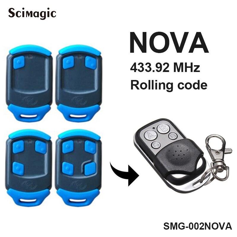 Centurion NOVA garage door opener 433,92MHZ rolling code NOVA gate control handheld transmitter key fob-in Door Remote Control from Security & Protection