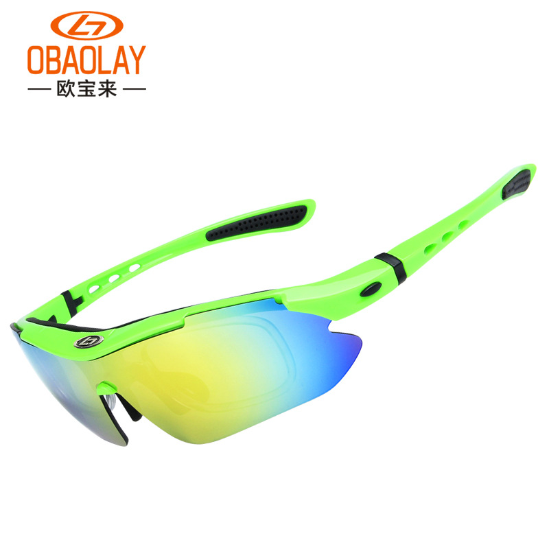 Cycling Glasses Outdoor Fishing Driving Tennis Cricket Golf Biking Running Sports Sunglasses with Case and 5