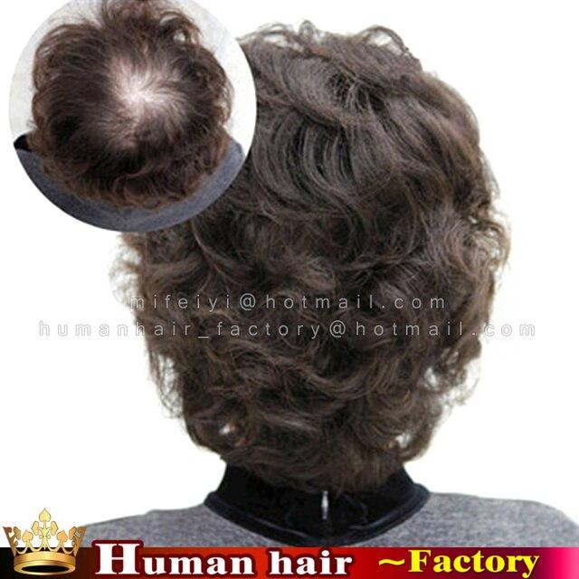 Индийские Парики парик моно toupee для реальных Природных волос кружева клип Женщин Волосы Парик для старейшина старший мужчина женщина touppe