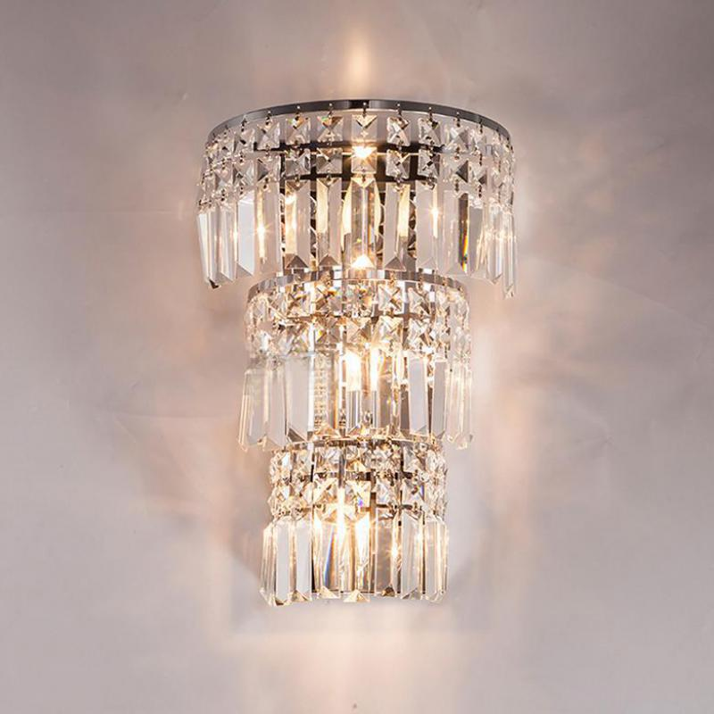 modern large crystal wall sconce light for living room 3 ...