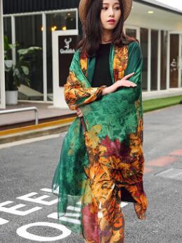 Весной и летом новый корейский мода дикий шарф градиент пляжное полотенце высококачественный мягкий солнцезащитный крем шарф платок двойн...