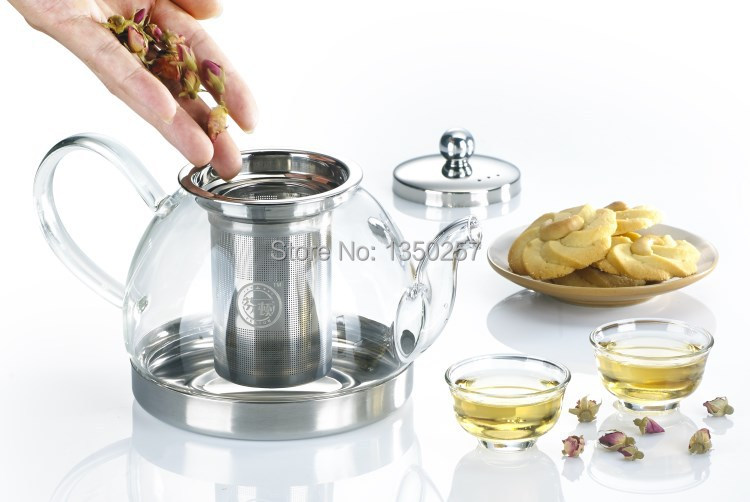 Induction Cooker Coffee Tea Maker Sets Tea Pot 900ML Electric Stove Oven Stainless Steel Borosilicate Glass