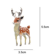 CINDY XIANG 3 Colors Available Cute Small Deer Brooches for Women Bucks Sika Deer Animal Brooch Pin Coat Accessories Kids Gift