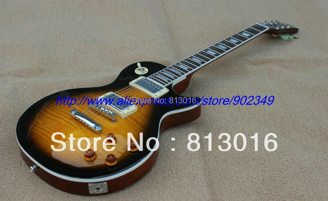 50c305d1bbcb67 2013 New Arrival 1960 Guitar Artist Tobacco burst Excellent Quality  electric guitar one piece mahognay body+neck free shipping