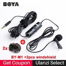 BOYA BY-M1 петличный всенаправленный конденсаторный микрофон для Canon Nikon Sony, для iPhone 7 6 S плюс DSLR видеокамеры Аудио Регистраторы