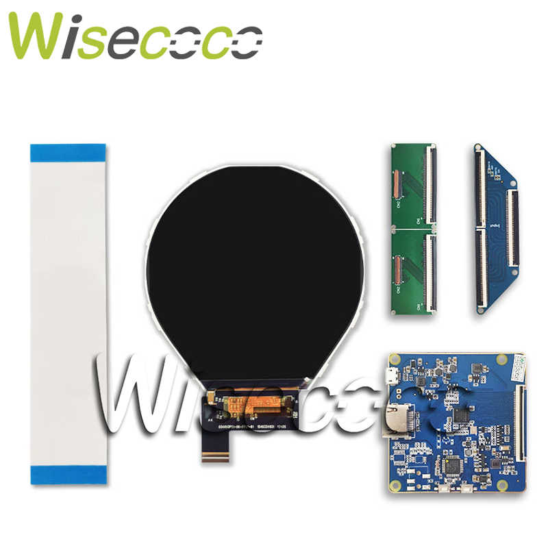 3 4 inch ips round LCD display 800*800 screen with hdmi to mipi controller  board for smart watch Raspberry pi monitor