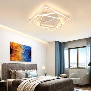 Image 3 - Moderne led Kronleuchter für wohnzimmer Schlafzimmer Aluminium Welle Rechteck kreis lustre Kronleuchter Lightin hohe decke Chandelers