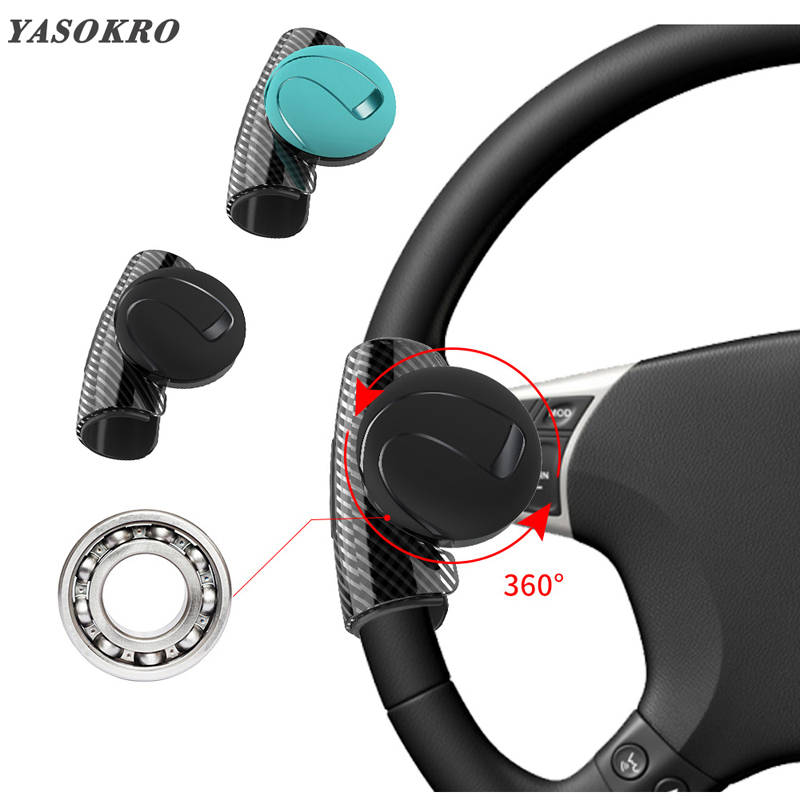 Car Steering Wheel Spinner Knob Auxiliary Booster Aid Control Handle Grip Black Steering Wheel Knob Ball Turning Assistant Atv,rv,boat & Other Vehicle Controllers
