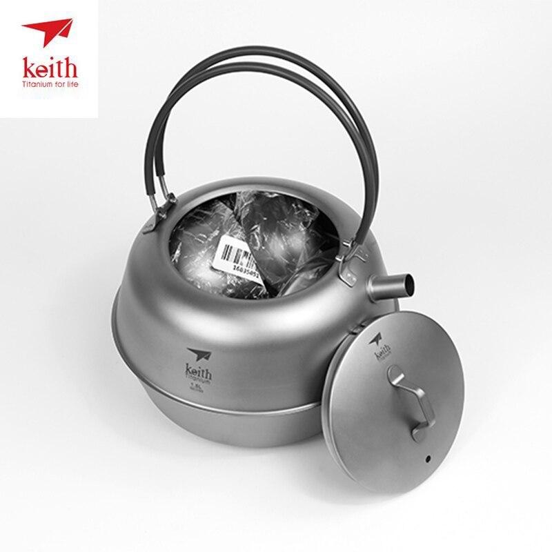 Keith Titanium résistant à la chaleur Double paroi thé tasses cuisson thé bouilloire pour café eau en plein air Camping Drinkware outils Ti3930 - 6