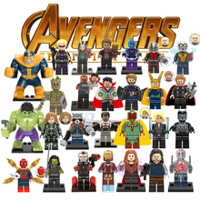 1pcs Super Hero Figures Legoings Avengers Captain Marvel Ant Man Wasp Spiderman Black Panther Building Blocks Toys For Children(China)